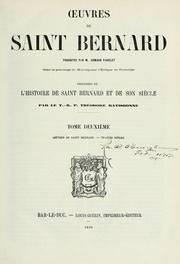 Cover of: Oeuvres de Saint Bernard