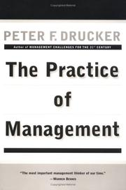 Cover of: The Practice of Management | Peter F. Drucker
