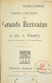 Cover of: Pages choisies des grands ecrivains