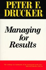 Cover of: Managing for Results | Peter F. Drucker