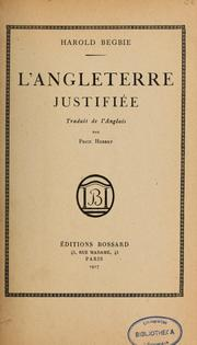 Cover of: L'Angleterre justifiée