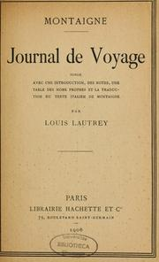 Cover of: Journal de voyage