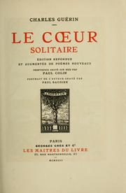 Cover of: Le coeur solitaire