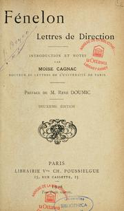 Cover of: Lettres de direction