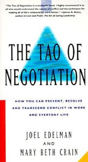 The Tao of negotiation by Joel Edelman