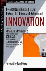 Cover of: Innovation  | John Kao