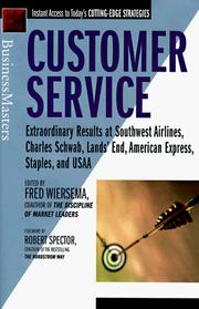 Cover of: Customer Service