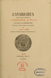 Cover of: L'avaricieux