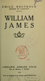 Cover of: William James