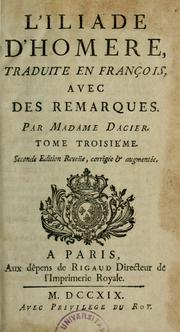 Cover of: L'Iliade d'Homère