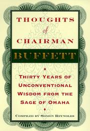 Cover of: Thoughts of Chairman Buffett | Warren Buffett