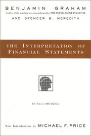 Cover of: The interpretation of financial statements