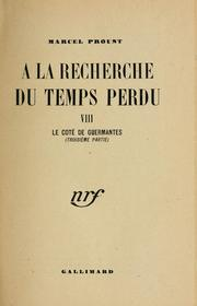 Cover of: Le côté de Guermantes | Proust. Marcel