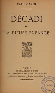 Cover of: Décadi
