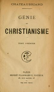 Cover of: Le génie du christianisme