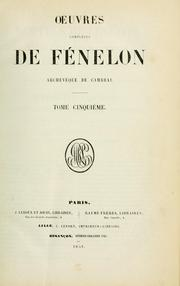 Cover of: Oeuvres de Fenelon, Archevèque de Cambrai