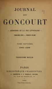 Cover of: Journal des Goncourt