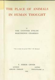 Cover of: The place of animals in human thought