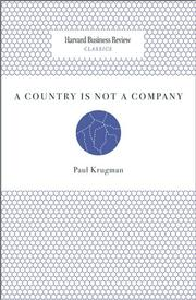 Cover of: A country is not a company