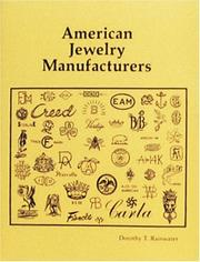 Cover of: American Jewelry Manufacturers