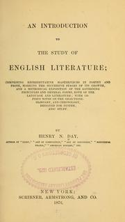 Cover of: An introduction to the study of English literature