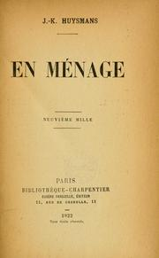 Cover of: En ménage