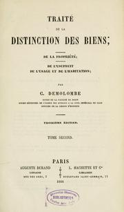 Cours de Code Napoléon by Charles Demolombe