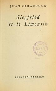 Cover of: Siegfried et le Limousin
