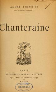 Cover of: Chanteraine