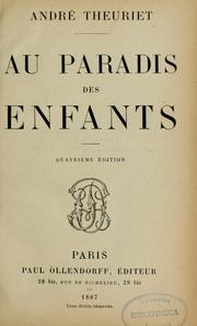 Cover of: Au paradis des enfants