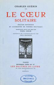 Cover of: Le cœur solitaire