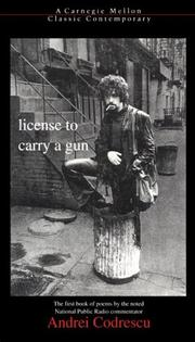 Cover of: License to Carry a Gun (Carnegie Mellon Classic Contemporary)