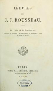 Cover of: Oeuvres