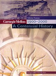 Cover of: Carnegie Mellon 1900-2000
