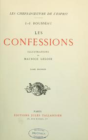 Cover of: Les Confessions