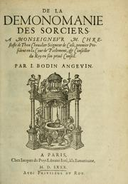 Cover of: De la demonomanie des sorciers