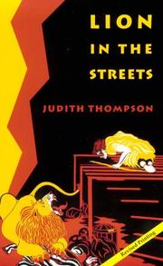 Cover of: Lion in the Streets | Judith Thompson