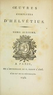 Cover of: Oeuvres completes