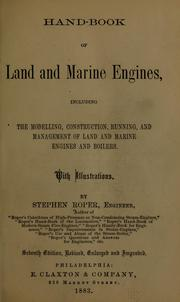 Cover of: Hand-book of land and marine engines | Stephen Roper