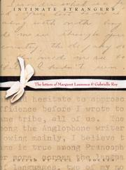 Cover of: Intimate Strangers: The Letters of Margaret Laurence And Gabrielle Roy