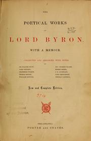 Cover of: The poetical works of Lord Byron