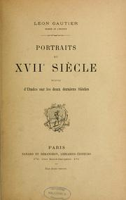 Cover of: Portraits du XVIIe siècle
