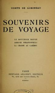 Cover of: Souvenirs de voyages