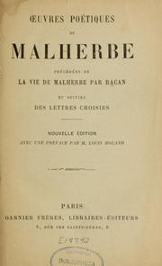 Cover of: Oeuvres poétiques