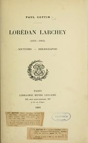 Cover of: Lorédan Larchey, 1831-1902