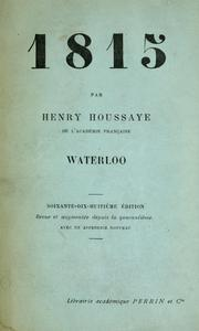 Cover of: 1815