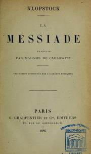 Cover of: Le Messiade