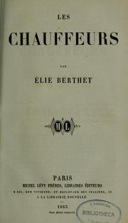 Cover of: Les chauffeurs | Élie Berthet