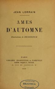 Cover of: Amis d'automne