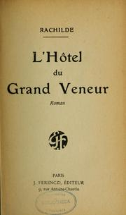 Cover of: L'Hôtel du Grand Veneur